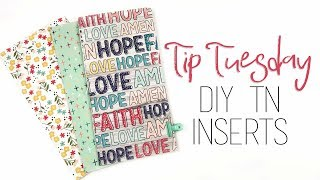 Tip Tuesday   DIY TN Inserts   3 Different Bindings