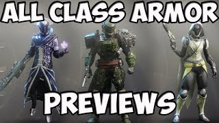 Destiny 2 All Class Armor Previews - Tower Vendors, Earth, Titan, IO, Nessus