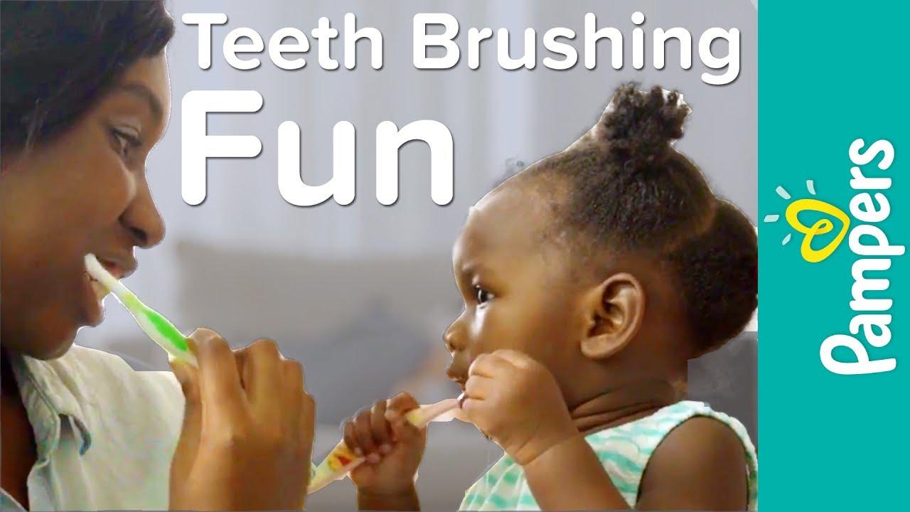 Ways to Make Brushing Baby's Teeth Fun   Pampers