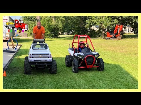 RACE For 3 Laps! Mini Monster Truck Versus Polaris Ace 150