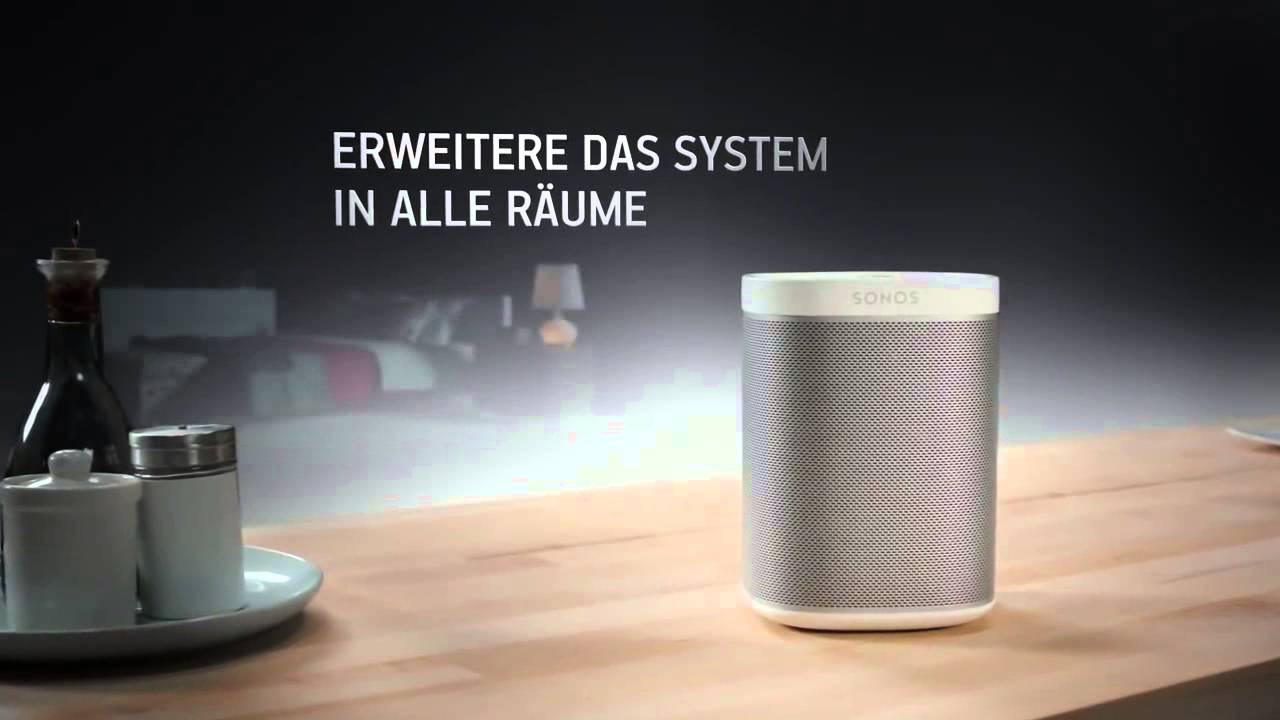 sonos play 1 musik im ganzen haus youtube. Black Bedroom Furniture Sets. Home Design Ideas