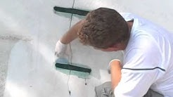 How to repair cracks in concrete pools.