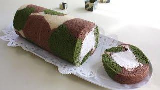 迷彩柄ロールケーキ cook kafemaruさんのレシピ書き起こし