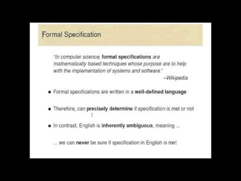 Introduction to Program Specification