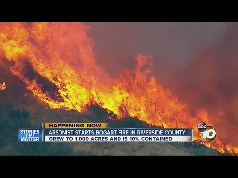 Bogart Fire in Riverside County prompts evacuations