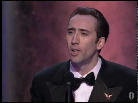 Nicolas Cage winning Best Actor