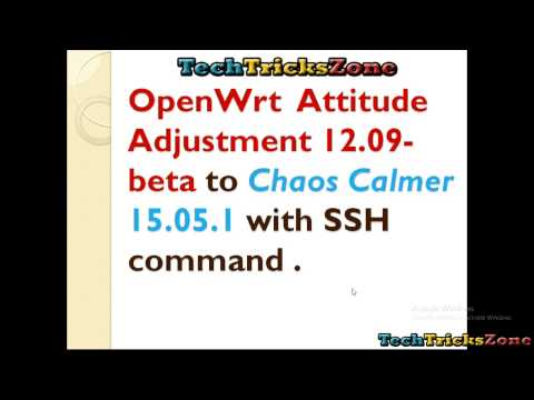 openwrt firmware upgrade with ssh command with simple steps