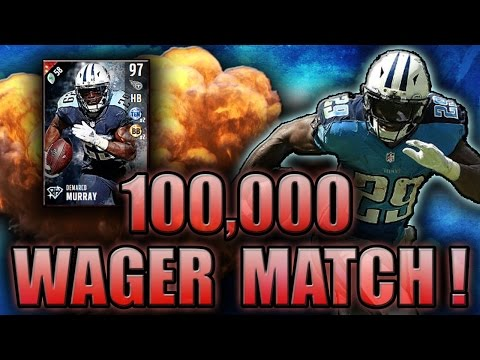 WAGER MATCHES ARE FINALLY BACK! (97 DEMARCO MURRAY GAMEPLAY) - MADDEN NFL 17 ULTIMATE TEAM