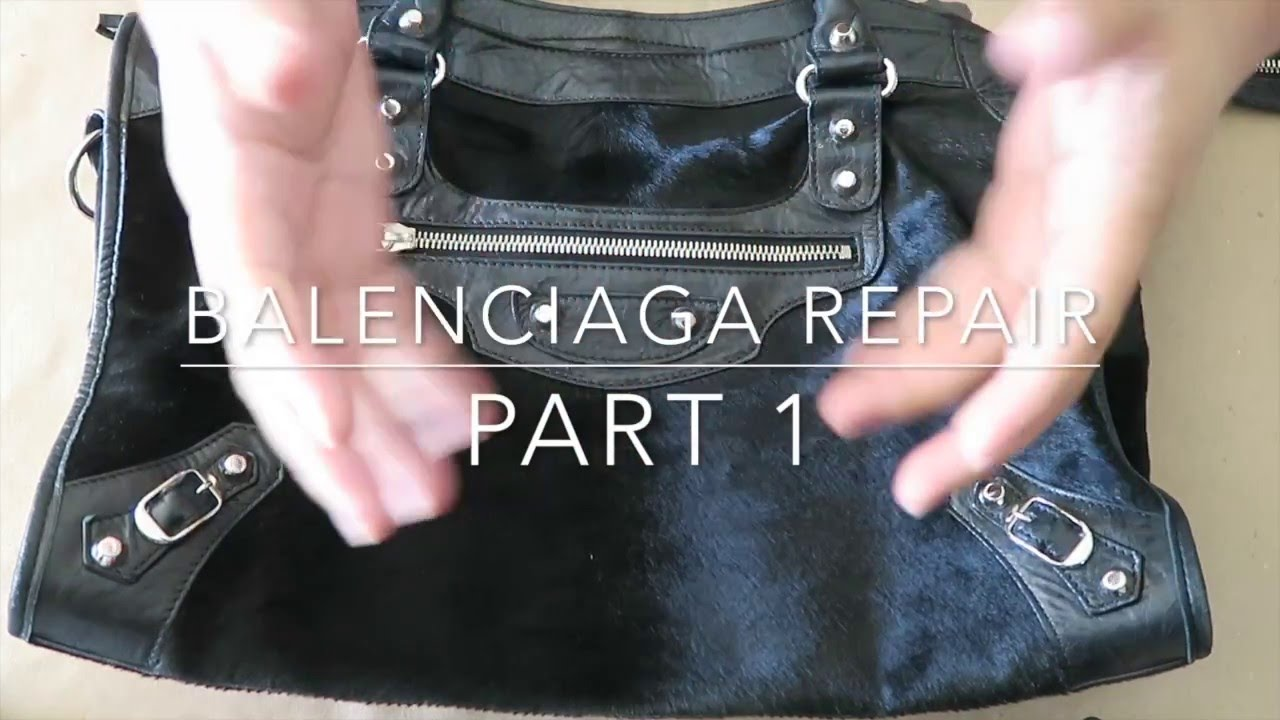 30676472242 Balenciaga Repair Part 1 - Damaged and Peeling Edge Coating on Handles -  YouTube