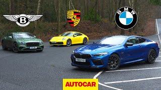 BMW M8 Competition v Bentley Continental GT v Porsche 911 | Autocar