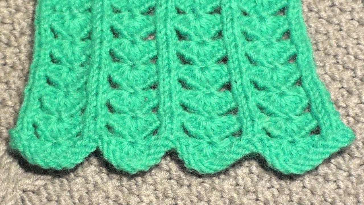 Вязания на спицах ажурный узор