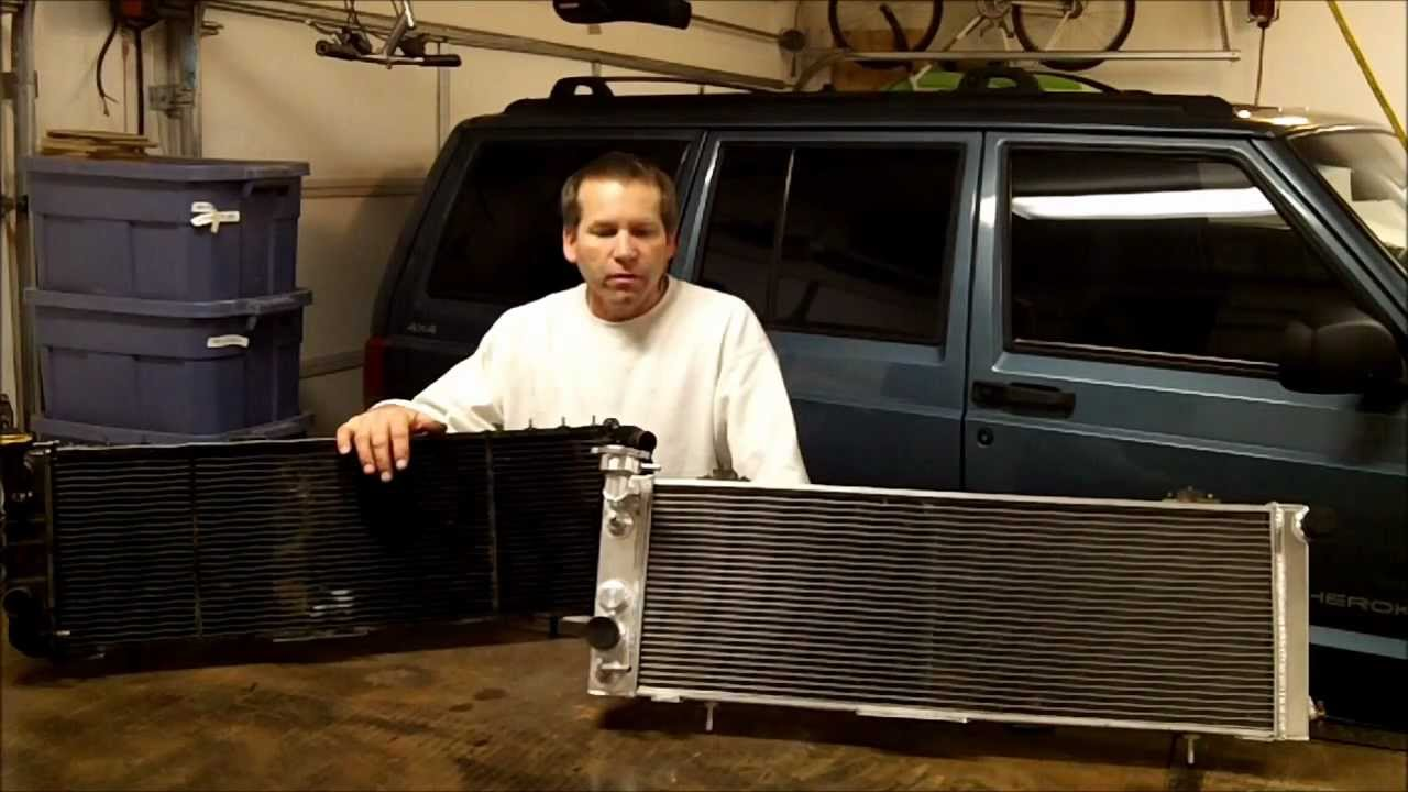 CSF 3 Row Vs Champion 3 Row Radiator For Jeep Cherokee
