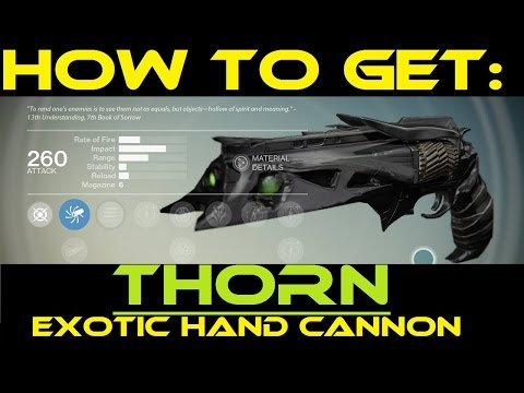 Destiny how to get thorn exotic bounty a light in the dark