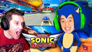 *NEW* Team Sonic Racing Game! - My Dad's A Pro!