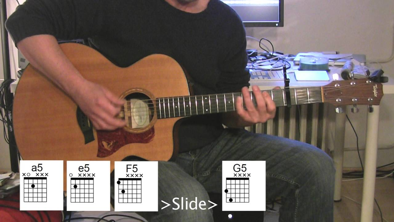 Rolling In The Deep Acoustic Guitar Chord Diagrams Youtube