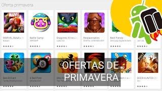 Ofertas de primavera en juegos de Google Play