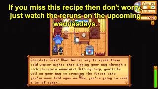 How to learn Chocolate Cake recipe - Stardew Valley 1.4