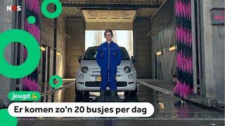 Aiden (12) heeft zijn eigen autowasstraat