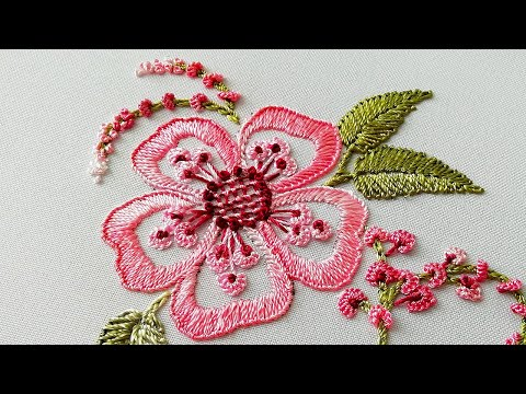 Brazilian  Embroidery * Fantasy Fern flower malinagm
