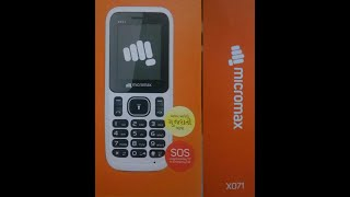 unboxing of micromax x071