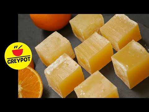 Orange Turkish Delight | Orange Lokum | No Artificial Colour | No Gelatin | No Agar Agar