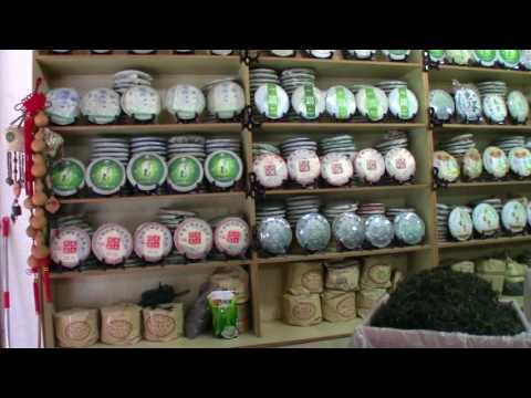 This is one of the largest tea markets in the world: Jinshi Tea Market in Kunming, Yunnan, China