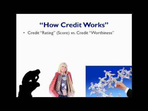 "Credit ""Rating"" (Score) vs. Credit ""Worthiness"""