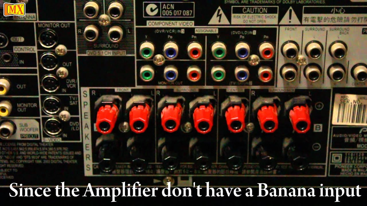 How To Connect Amplifier Amp Speakers Using Banana Plugs