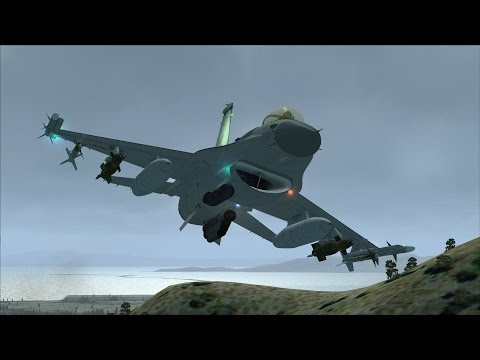 FSX F-16 VR-1446 Low Level Flight near Salt Lake City [AWESOME REALISM+GRAPHICS]