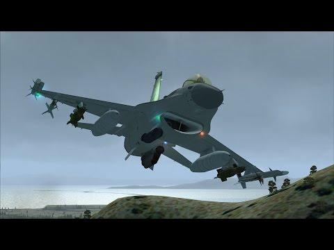 FSX F-16 VR-1446 Low Level Flight near Salt Lake City [PURE REALISM+GRAPHICS]