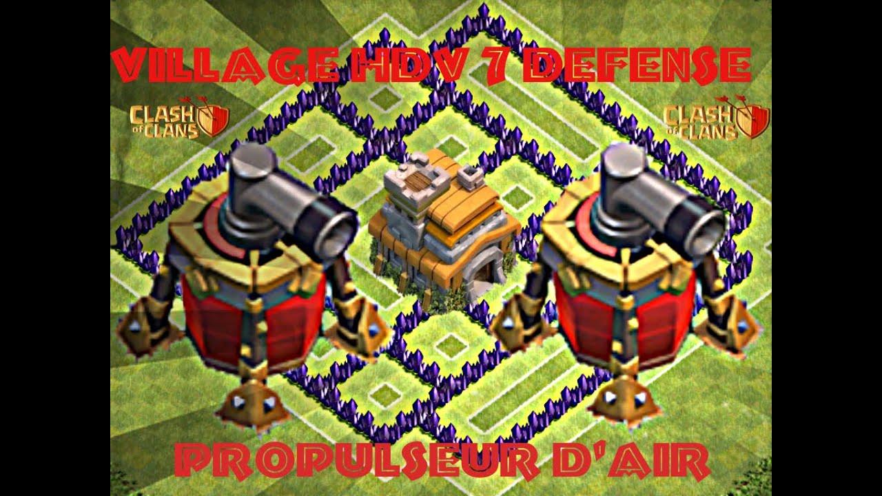 clash of clans new update hdv 7 propulseur d 39 air. Black Bedroom Furniture Sets. Home Design Ideas