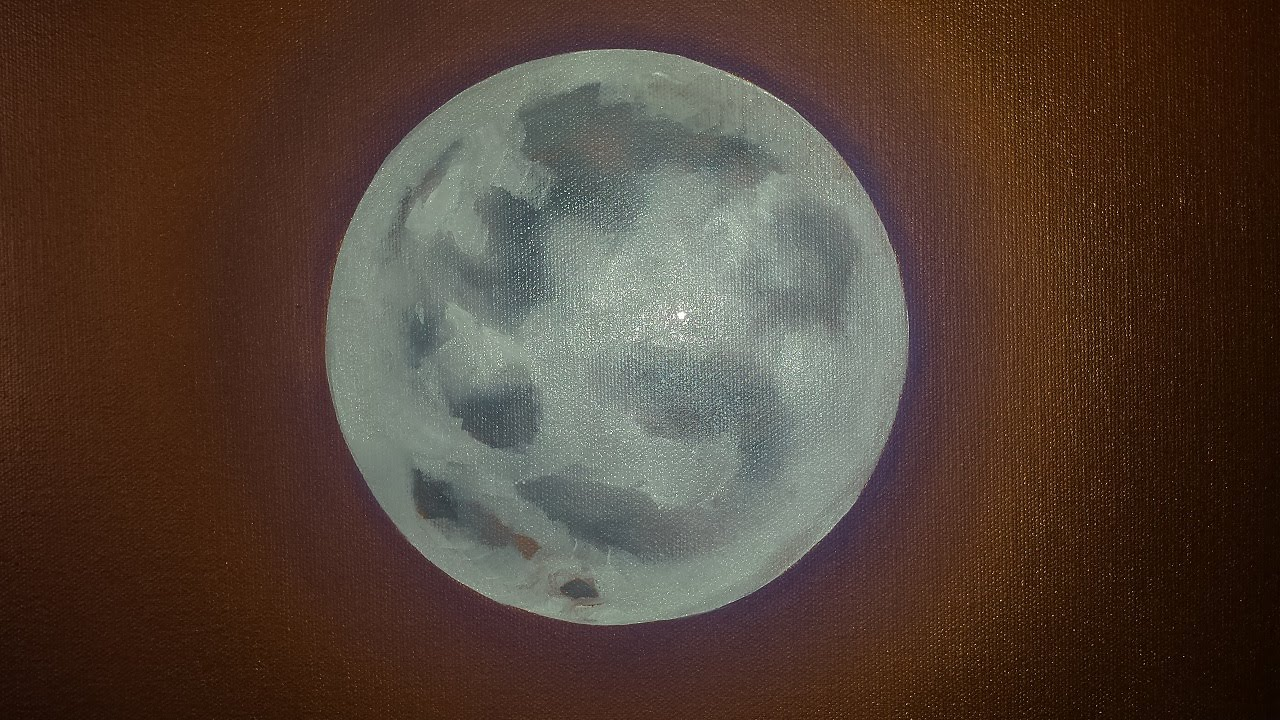 Spray Paint Moon Painting