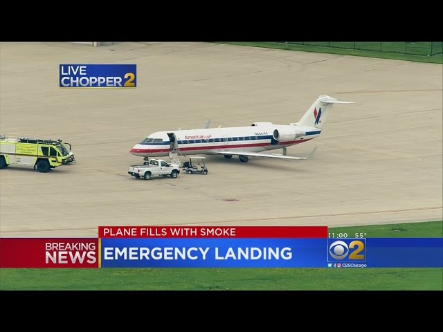 Flight From O'Hare Lands At DuPage Airport Due To Smoke In The Cabin