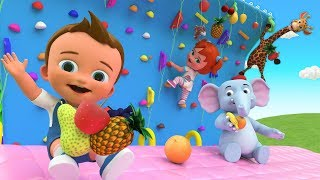 Learn Fruits Names for Children with Little Babies Elephant Fun Play Adventure Trekking Wall 3D Kids