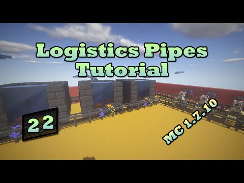 Logistics Pipes Tutorial - #22 - Alloy Smelteries (Tinkers' Construct)