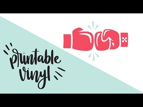 Silhouette VS Cricut - How To Use Printable Vinyl | 4 Simple Print Then Cut Projects