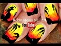 Tropical Hula Girl Nails | Summer Neon DIY Nail Art Design Tutorial