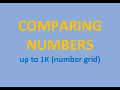 Comparing Numbers - Numbers up to 1,000 (number grid)