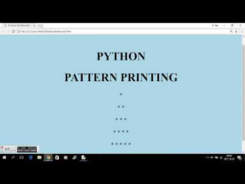 PYTHON - PATTERN PRINTING