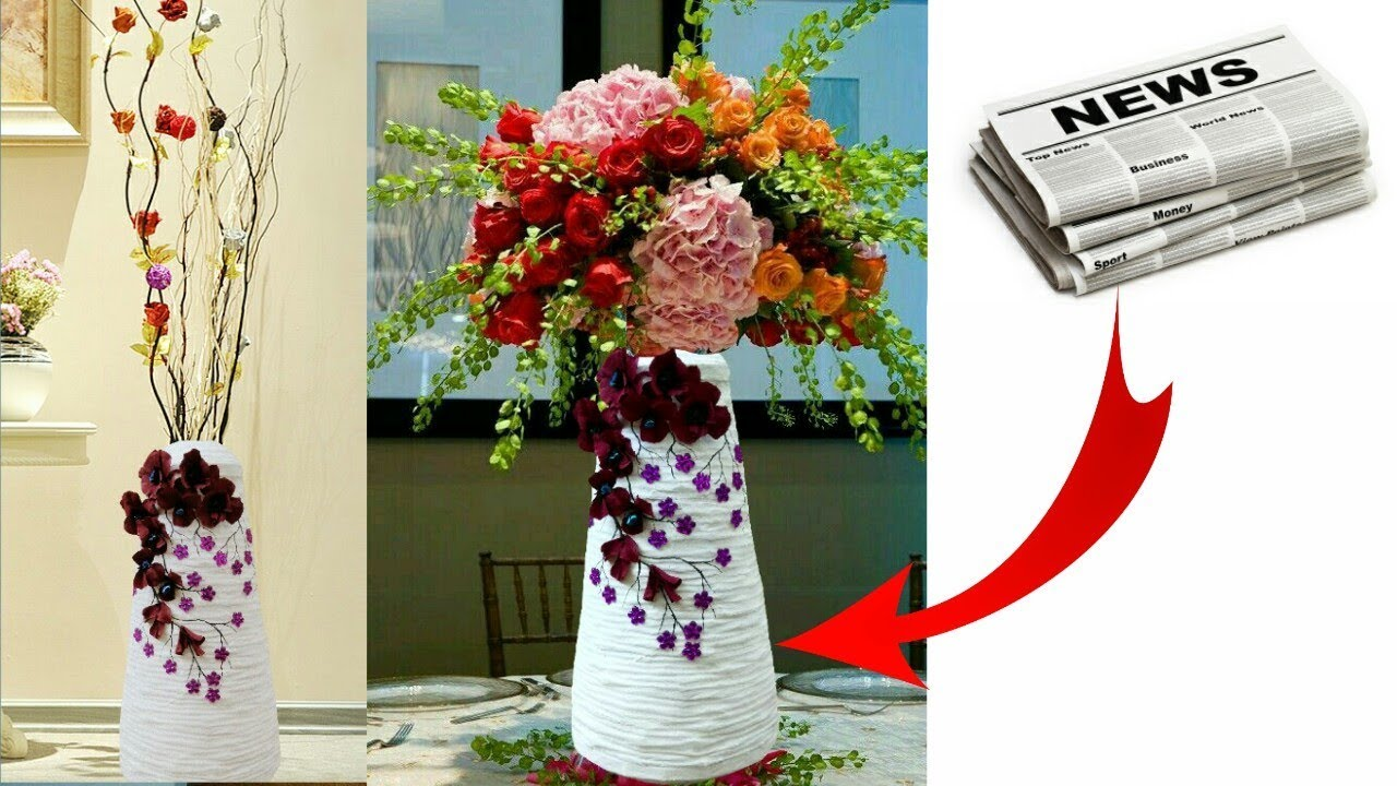 How To Make Flower Vase With Newspaper Newspaper Flower Pot