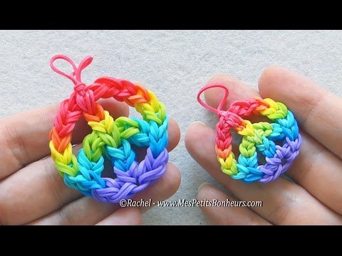 Peace and Love Rainbow Loom mini ou maxi - Tutoriel des deux