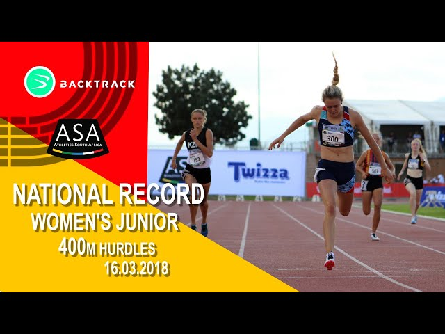 Wenda Nel wins by an inch and Zene breaks SA Junior Record Women 400mh Final