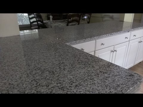 Granite counter installation