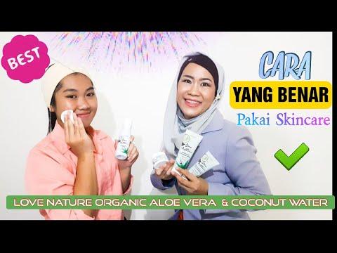 cara-yang-benar-pakai-skincare-love-nature-aloe-vera-&-coconut-water---merawat-kulit-pasca-break-out