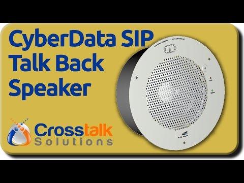 CyberData SIP Talk Back Speaker Setup