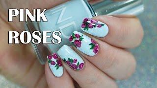 Classic Pink Rose Nail Art | INDIGO Nail Polish