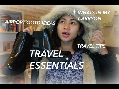Travel Essentials | Whats In My Carry On + Airport OOTD Ideas + tips♥