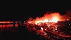 Pyroshow 60 Jahre Dynamo Dresden // Elbufer