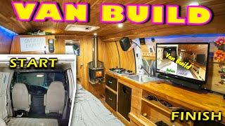 Van Life Build Tour | DIY Stealth Van Conversion Start to Finish (2018)