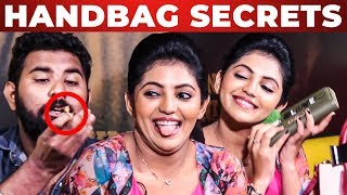 COCKROACH Inside Athulya Ravi's Handbag Revealed | What's Inside the HANDBAG | VJ Ashiq